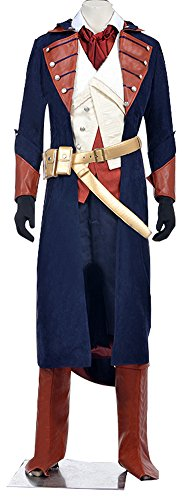 Mtxc Men's Assassin's Creed Unity Cosplay Costume Arno Victor Dorian Full Set Size X-Small Blue