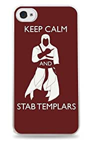 465 Keep Calm and Stab Templars Assassin's Creed- White Hardshell Case for iPhone 5C
