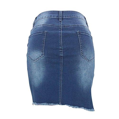 Paquet Mini Et Dechir Bleu Denim Fit Taille Skirt Jeans Jupe Fille Femme Jean Half Hanche Jupe Lisli Slim Haute 6xSAw6