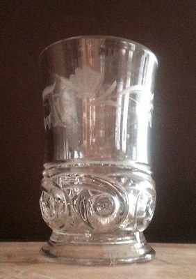 - Antique EAPG Model Flint Glass Eturia Aka Halley's Comet Spooner Celery Vase With Etched Flowers