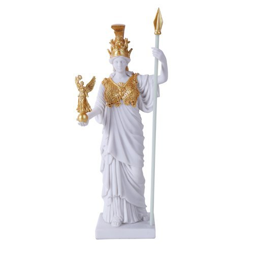 Greek Roman Deity Virgin Patroness of Athens Athena Greek Goddess Figurine Wisdom War Strategy Classical Finish In Gold (Athena Finish)