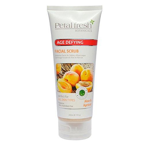 - Petal Fresh Aloe and Apricot Facial Scrub, 7oz