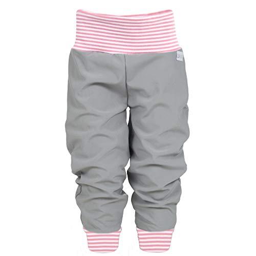 Lilakind Softshell broek babybroek kinderbroek herfst winter gevoerde regenbroek effen grijs gestreept roze wit maat 50…