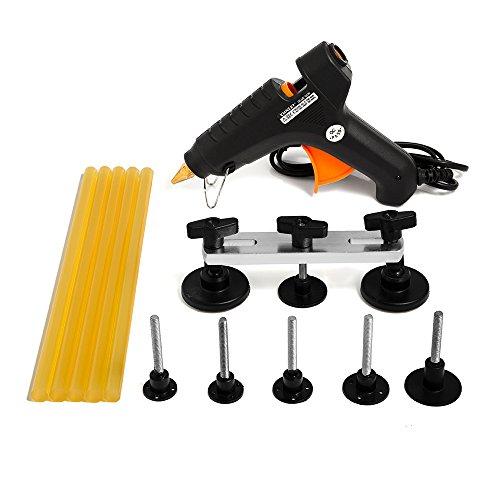 Mookis Paintless Dent Removal, 13PCS Car Repair Kit PDR Tools, Bridge Puller Set with Glue Gun and Glue Stricks