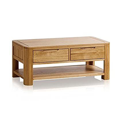 Romsey Natural Solid Oak Coffee Table Amazon Co Uk Kitchen Home
