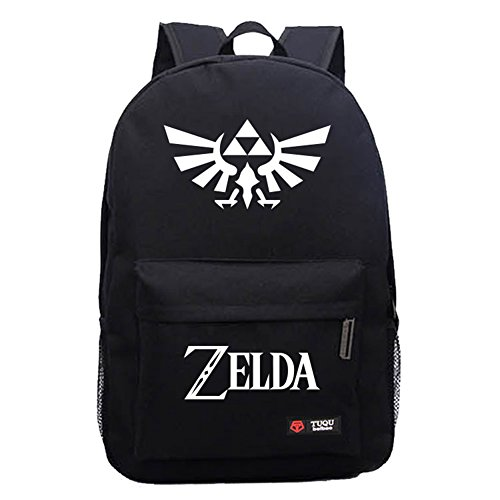 Legend of Zelda Link Backpack Oxford Cloth Black Large Capacity Cosplay Durable Travel School Bag