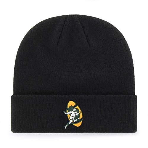 '47 Green Bay Packers Black Cuff Beanie Hat - NFL Cuffed Knit Toque Cap