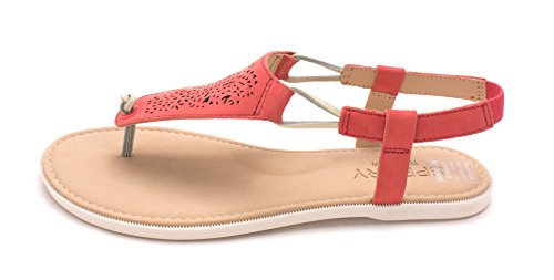 Sandalen Of Frauen Zeh Rose Leger Sperry Offener Flache Leder Sharon 48wWY
