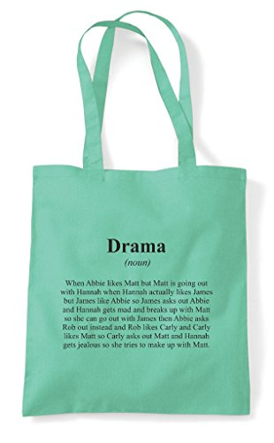 Dictionary Definition Tote Alternative Shopper In Funny Bag Drama Mint Not The 4xZCCn