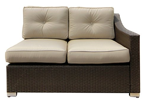 American Patio – Left Arm Loveseat Sectional All Weather Wicker, Espresso, 32.28″ x 51.18″ x 33.47″