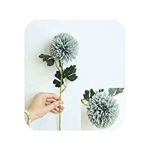 Artificial Flowers Fake Flowers Ball Onion Silk Artificial Flower Bouquet for Home Wedding Decoration,7 26