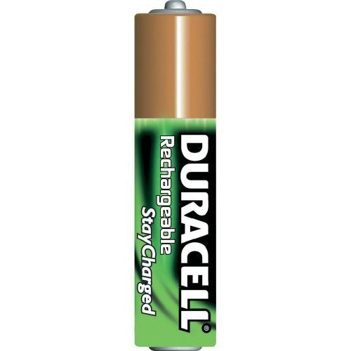 Pack of 10 Duracell DX2400 AAA Stay-charged Rechargeable Battery 800 mAh NiMH ()