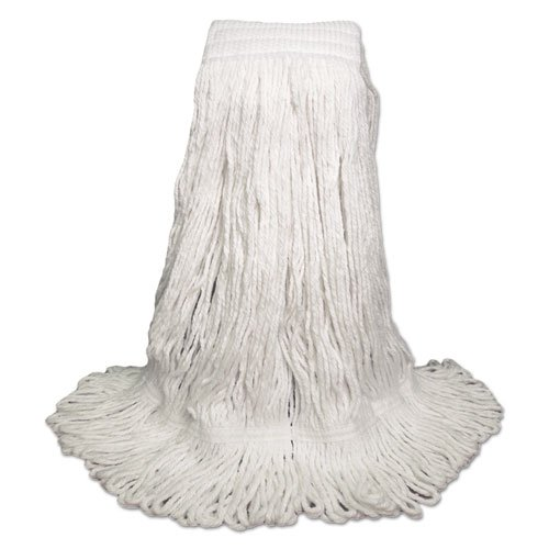 UNISAN Mop Head, Pro Loop Web/Tailband, Premium Saddleback Head, Rayon, 24-oz., White - Includes 12 mop heads per case.