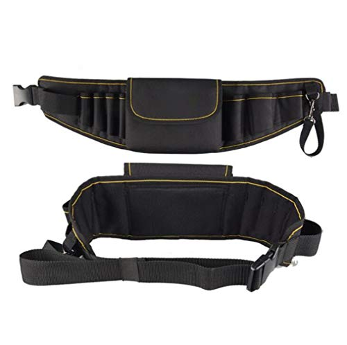 Canvas Heavyweight Belt - SPP PANDA Electrician Waist Bag Multifunction Electricians Tool Pouch Belt Pouch Thick Canvas Waist Bag Matching Belt 1 Pcs