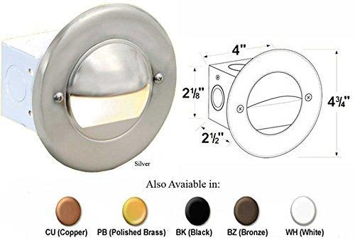 Round Brass Step Light