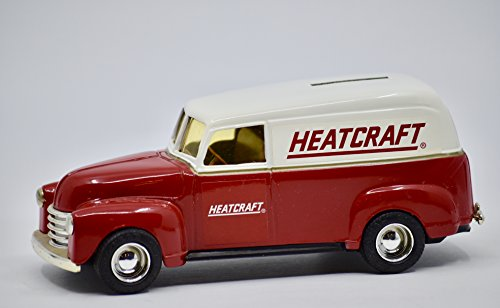 1991 - Ertl Inc/Heatcraft Exclusive - 1950 Chevy Panel Truck - 1:25 Scale Die Cast Metal Bank - Numbered - Collectible