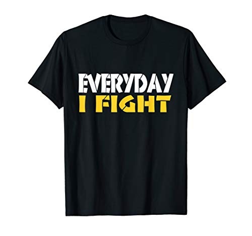 EVERYDAY I FIGHT T-Shirt MMA CAGE FIGHTER BJJ Tee ()