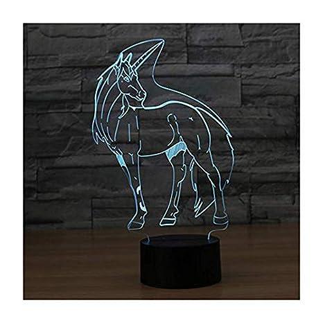 Lámpara de ilusión led 3d Luz de noche/Mesa de noche óptica Wangzj ...
