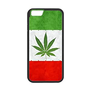 iran weeds flag iPhone 6 4.7 Inch Cell Phone Case Black xlb2-326560