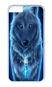 Iphone 6 Case The Blue Wolf White PC Hard Case For Apple Iphone 6 4.7 Inch