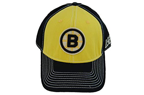 (American Needle Boston Bruins Retro Logo Embroidered Washed Twill Cap Black/Gold)