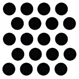 "(210) 2"" Black Polka Dot Decals - Removable Peel and Stick Circle Wall Decals for Nursery, Kids Room, Mirrors, and Doors"