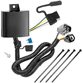 Amazon.com: Tekonsha 118251 4-Flat Tow Harness Wiring Package ... on hopkins wiring, reese wiring, tecumseh wiring,
