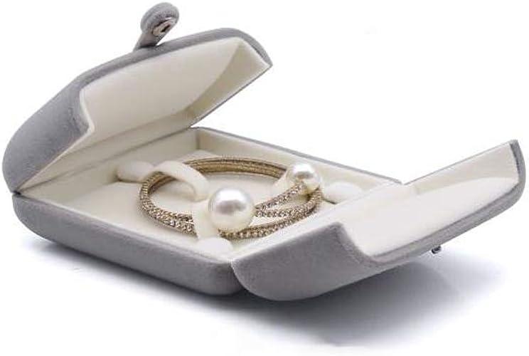 Longwing Estuche Gris Caja de Regalo para Anillo Compromiso, Declaración, Aniversario (Bracelet): Amazon.es: Joyería