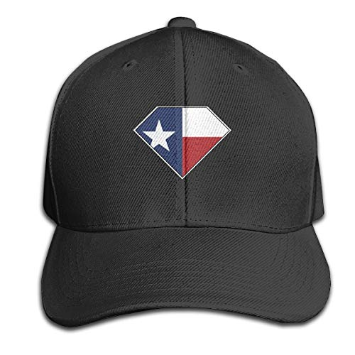 Lawsonnd Barded Unisex Texas Flag in Superman Logo Adjustable Dad Trucker Hat