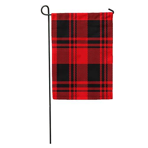 - Semtomn Garden Flag Red Check Lumberjack Bedclothes Black Breakfast Buffalo Casual Checker Checkered Home Yard House Decor Barnner Outdoor Stand 28x40 Inches Flag
