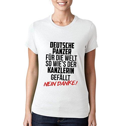 Deutsche Panzer Fur Die Welt So Wies Der Kanzlerin Gefallt Damen T-shirt