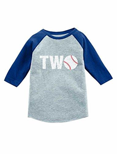 Tstars 2nd Birthday Gift for Baseball Fan 3/4 Sleeve Baseball Jersey Toddler Shirt 2T Blue