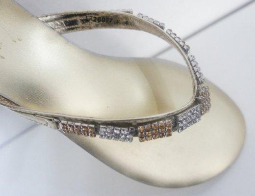 Casandra Oro Diamante Jeweled Infradito Slip On Glitz Sanda