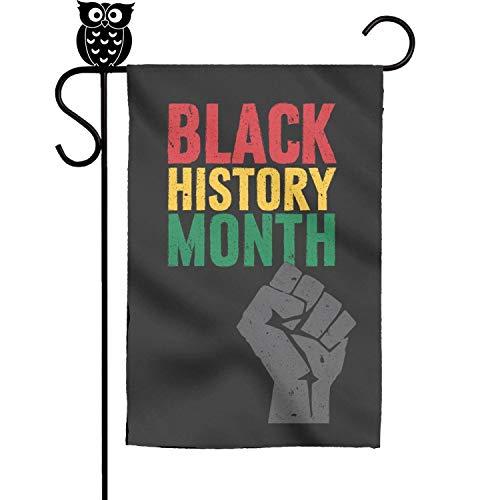 bbileo2 Black History Month fist Poster Rubber Sweet Lawn Evergreen Garden Flag