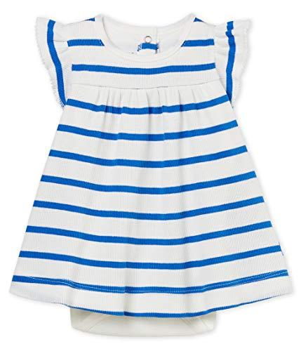 Petit Bateau Baby Girls Sleeveless Striped Dress Bodysuit (1 Month)
