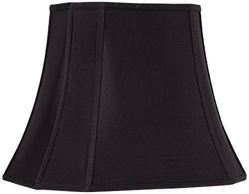 Black Oblong Cut Corner Lamp Shade 7/10x12/16x13x12 (Spider) - - Cut Black Corner