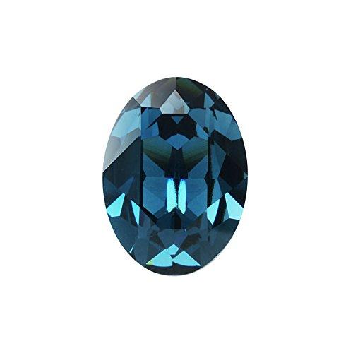 Swarovski Crystal, 4120 Oval Fancy Stones 18x13mm, 1 Piece, Montana F