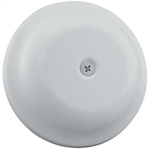 9-1/4 White Finish High Impact Plastic Cleanout Cover Plates Bell Design- Pack of 5