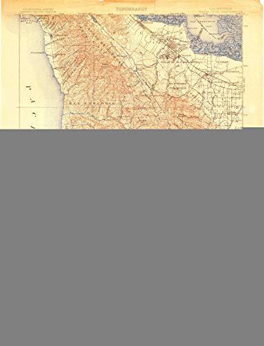 YellowMaps Santa Cruz CA topo map, 1:125000 Scale, 30 X 30 Minute, Historical, 1902, Updated 1904, 21.7 x 16.5 in - Polypropylene ()