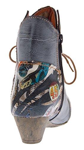 TMA - botines de caño bajo Mujer negro y gris