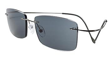 75cb7dff2012 Image Unavailable. Image not available for. Color: Eyekepper Titanium  Rimless Reading Sunglasses Sun Readers Men ...