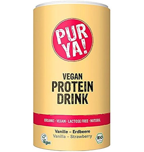 Purya Proteína Vegetal Bio en Polvo con Vainilla y Fresa ...