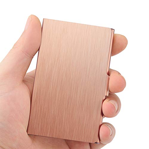 Professional Business Card Holder Business Card Case Slim Design Stainless Steel Card Holders for Men & Women, Keep Business Cards in Immaculate Condition (Rose Gold)