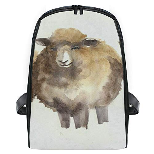 Kid's Backpack Watercolor Cute Sheep Personalized Shoulders Bag Classic Lightweight Daypack for Girls/Boys ()