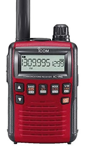 Icom R6 Sport Wide Band Handheld Communications Receiver, Requires 2 x AA Batteries, Red Review