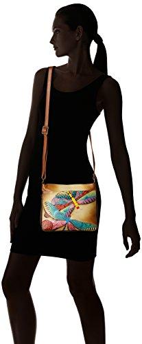 Hand Dragonflies Dancing Anna Painted Extendable Anuschka Crossbody Leather Women'S 8wq5BBSp