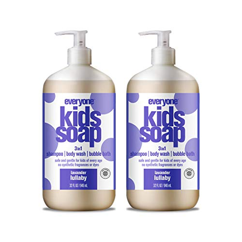 Everyone 3-in-1 Soap for Every Kid Safe, Gentle and Natural Shampoo, Body Wash, and Bubble Bath, Lavender Lullaby, 2 Count from Everyone