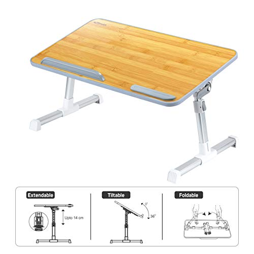 Portronics POR-105 My Buddy Laptop Desk with Leight Weight, Strong & Foldable (Bamboo) (B07NVJW4S9) Amazon Price History, Amazon Price Tracker