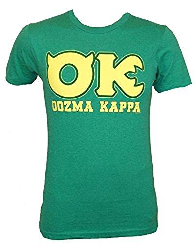 (Disney Monsters University OK Oozma Kappa Member Green T-shirt (Large, Kelly)
