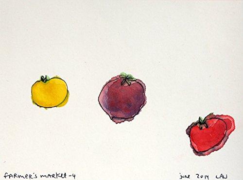 (farmer's market 4 | Sumi ink paintings by Northwest artist Alan Lau)